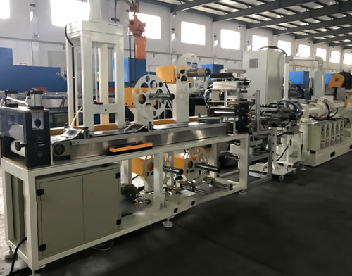 Butyl rubber tape extrusion line