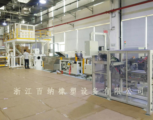 Automobile windshield washer preforming production line